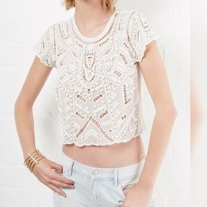 Lovers and Friends beaded crop top